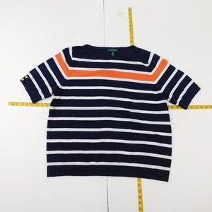 Lauren Ralph Lauren 3X Blue  Boat Neck Sweater  C-
